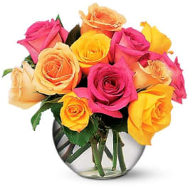 Yellow Sympathy And Funeral Roses Delivery Columbia
