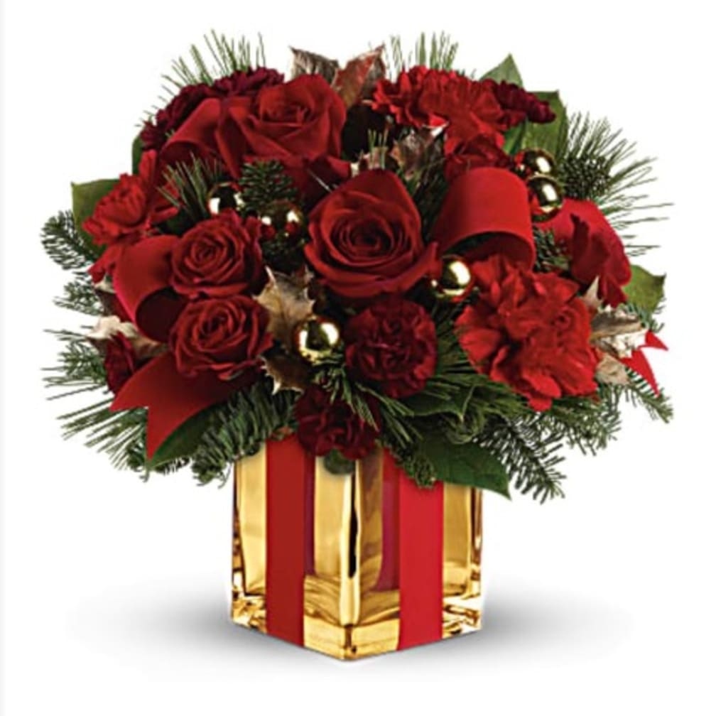Presents Under The Christmas Tree: Flower Delivery By The French Tulip Studio