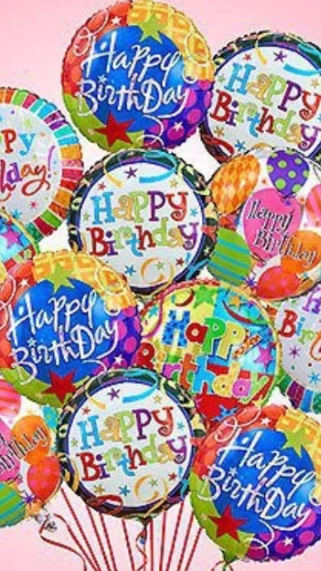 One Dozen Happy Birthday Mylar Balloons By BLOOM FLORIST LLC