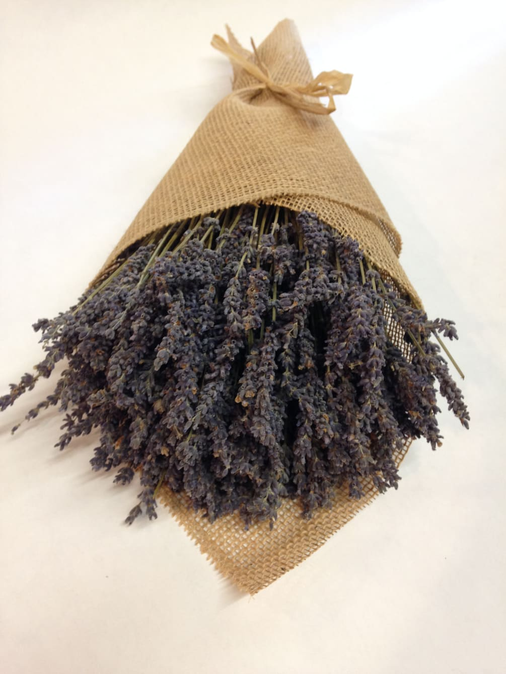 Dried French Lavender Wrapped In Burlap