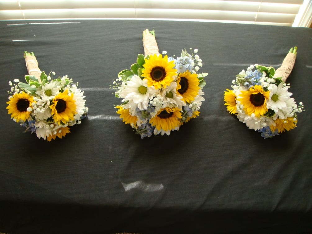 Wedding Flowers And Gifts: Sunflower Wedding Bouquet By Country Home Flowers & Gifts
