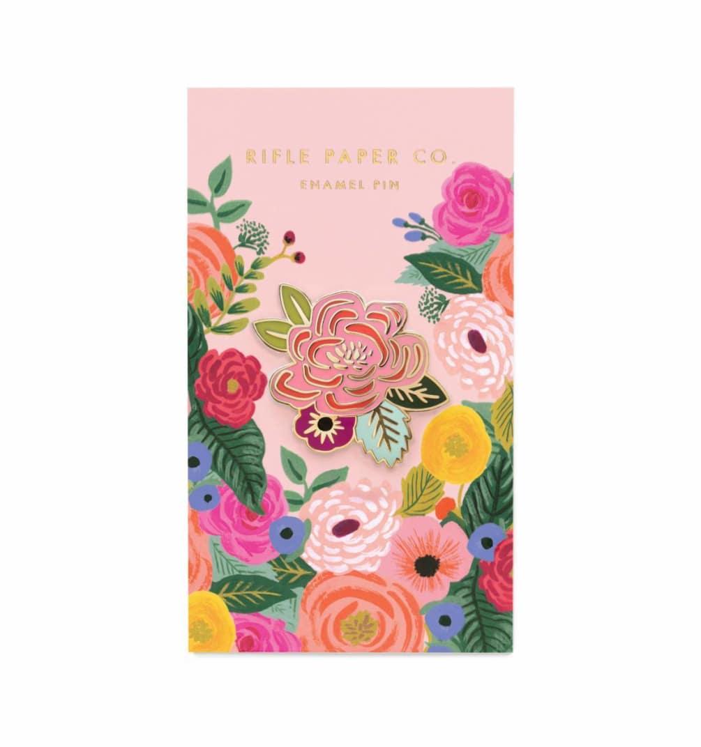 dc8c72708e9 Appreciate the pretty blooms & attach this Juliet Rose Enamel Pin to