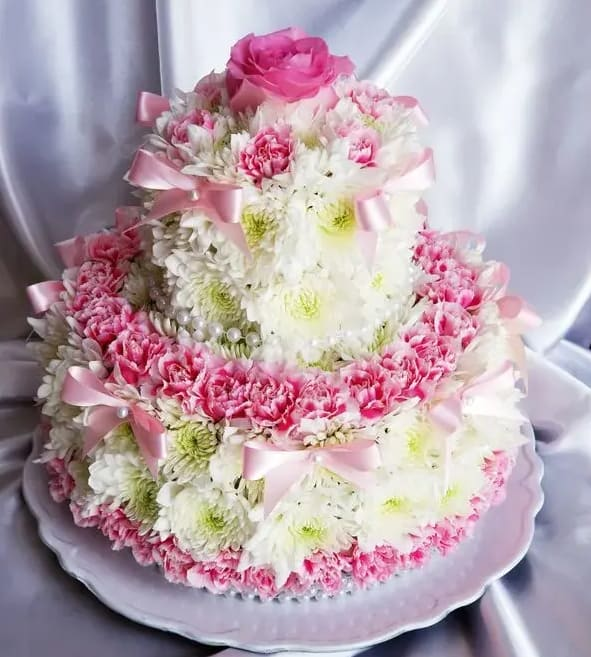 2T flower cake by Flowers For Everybody
