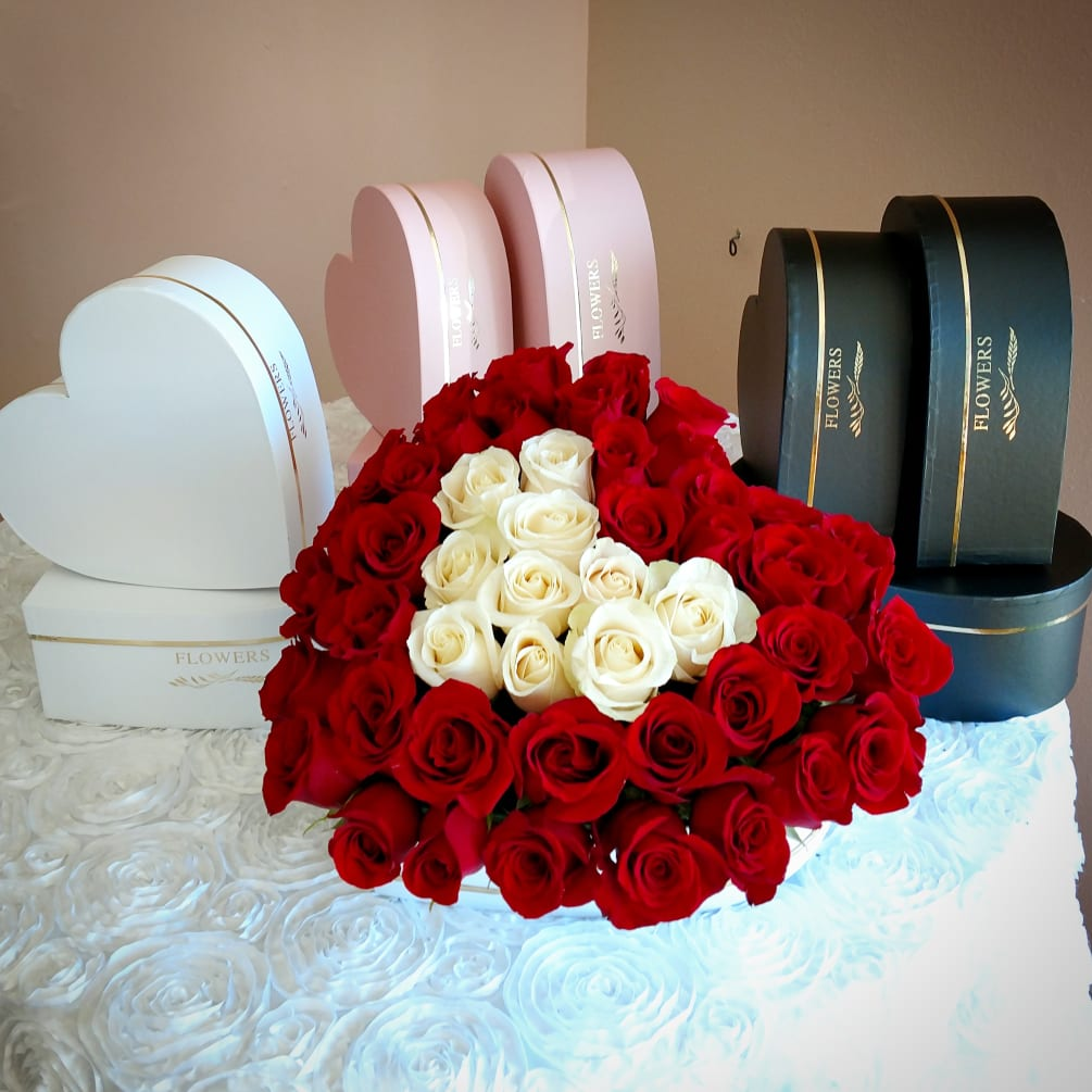Rose Heart Box In 3 Sizes By Chitas Floral Designs