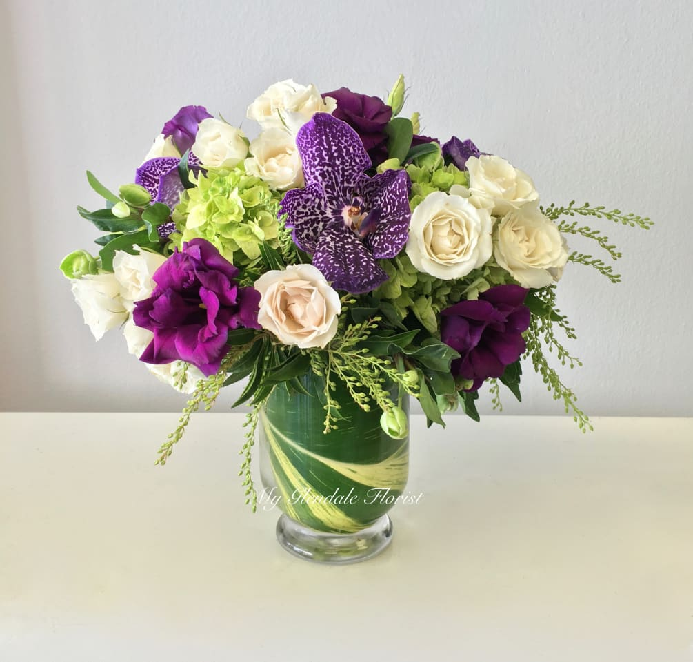 1b8543bafb3664 Vanda Orchid and Lisianthus Special - Glendale Florist by Glendale ...