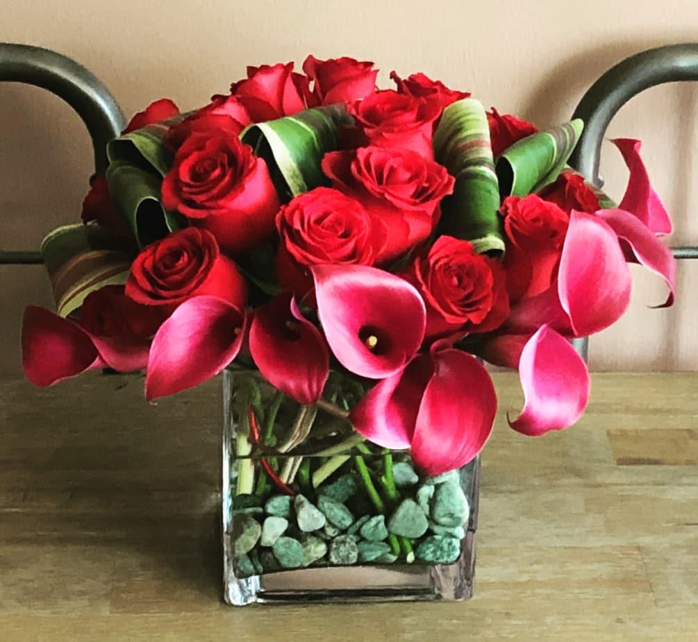 . Contemporary flower arrangement