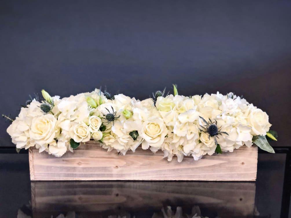 66 Long Wood Box White