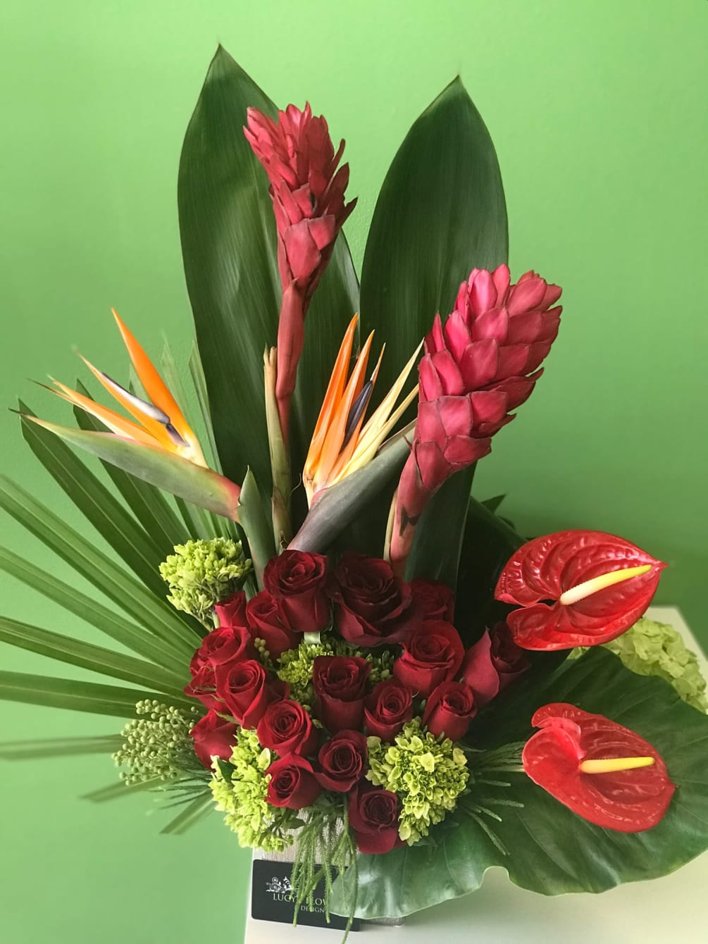 Tropical Arrangement By Lucy S Flowers Design