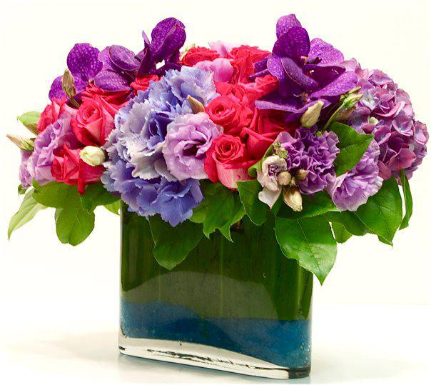 Hot Pink And Purple Flower Mix My Los Angeles Florist In West