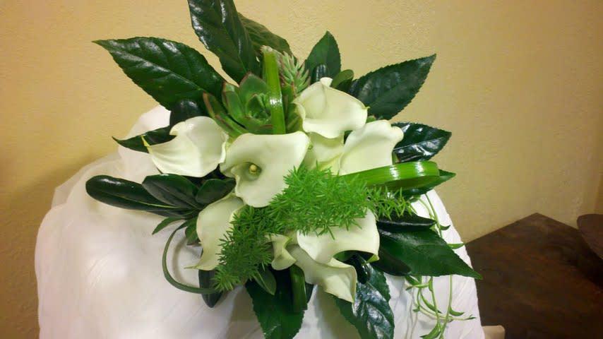 White Calla Lily Bouquet In Santa Maria Ca Jp Designs Floral