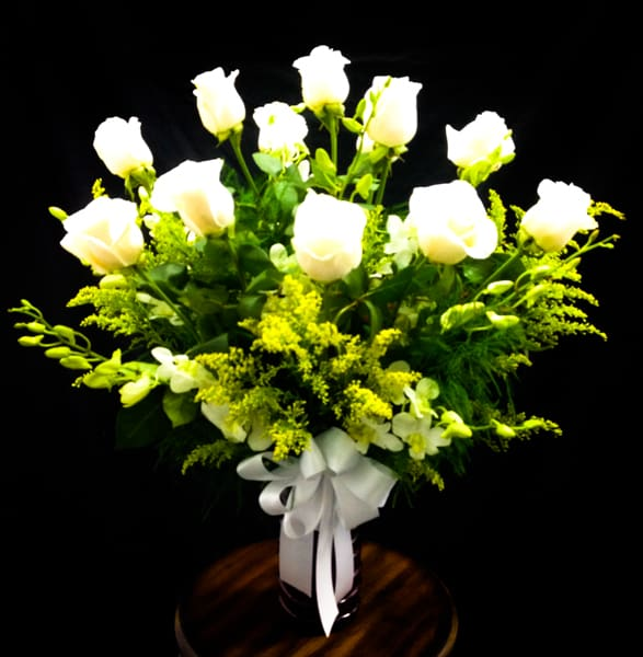 White Rose Orchid By Garden Of Roses