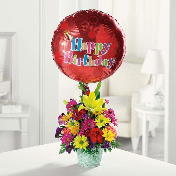 Happy Birthday Basket in San Gabriel, CA | The Daily Blossom Florist