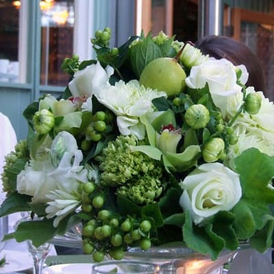 Whites Roses Hydrangeas Floral Arrangement In San Francisco Ca