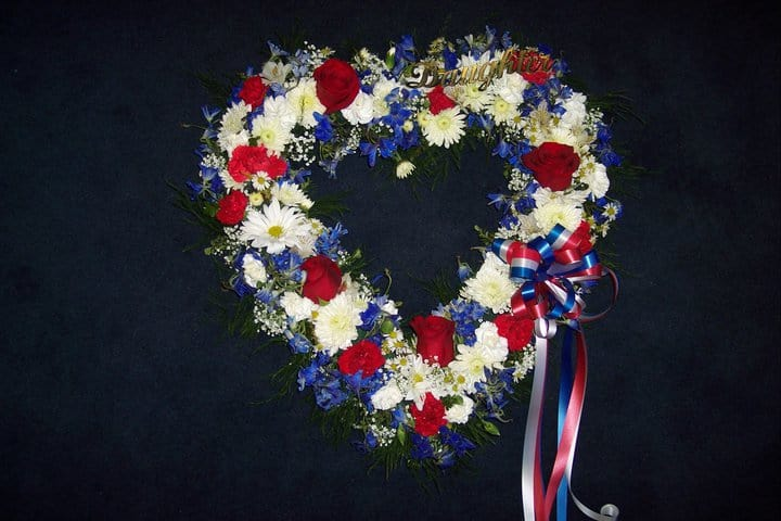 Red White And Blue Heart In Cherry Hill Nj Flower Boutique