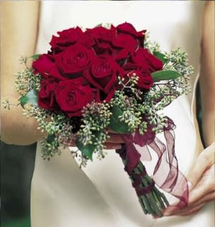 Red Rose Wedding Bouqet.Stunning Red Rose Bride Bouquet In Los Angeles Ca Westwood Flower Shop
