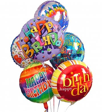 Birthday Balloon Bouquet 6 Mylar
