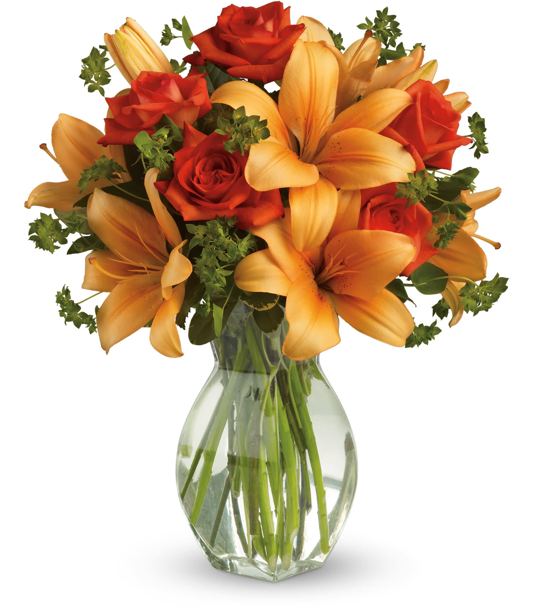 Fiery Lily And Rose By Teleflora In Palm Desert Ca The Flower Company