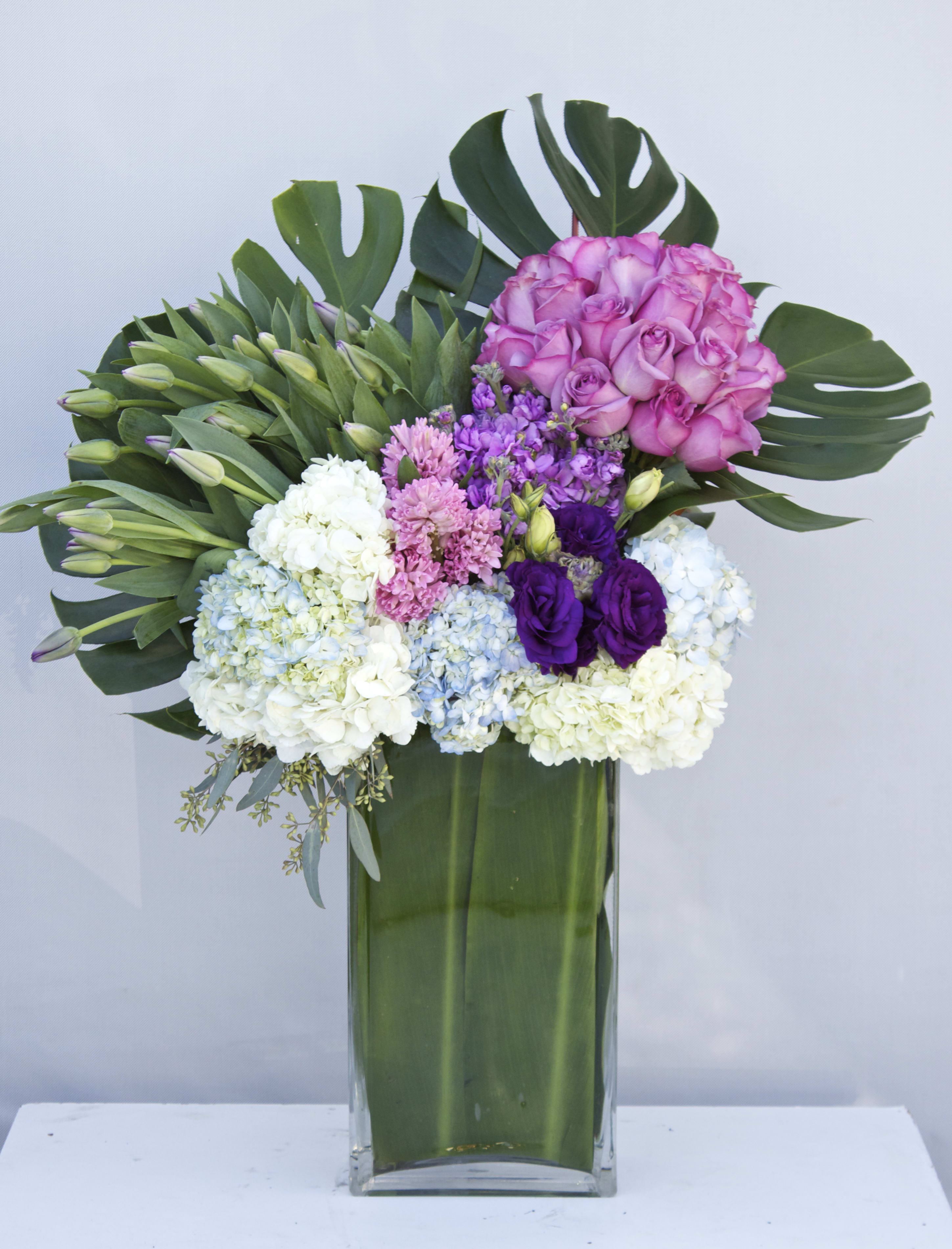 Tall Spring Bouquet In A Glass Vase in Glendale, CA | Kara