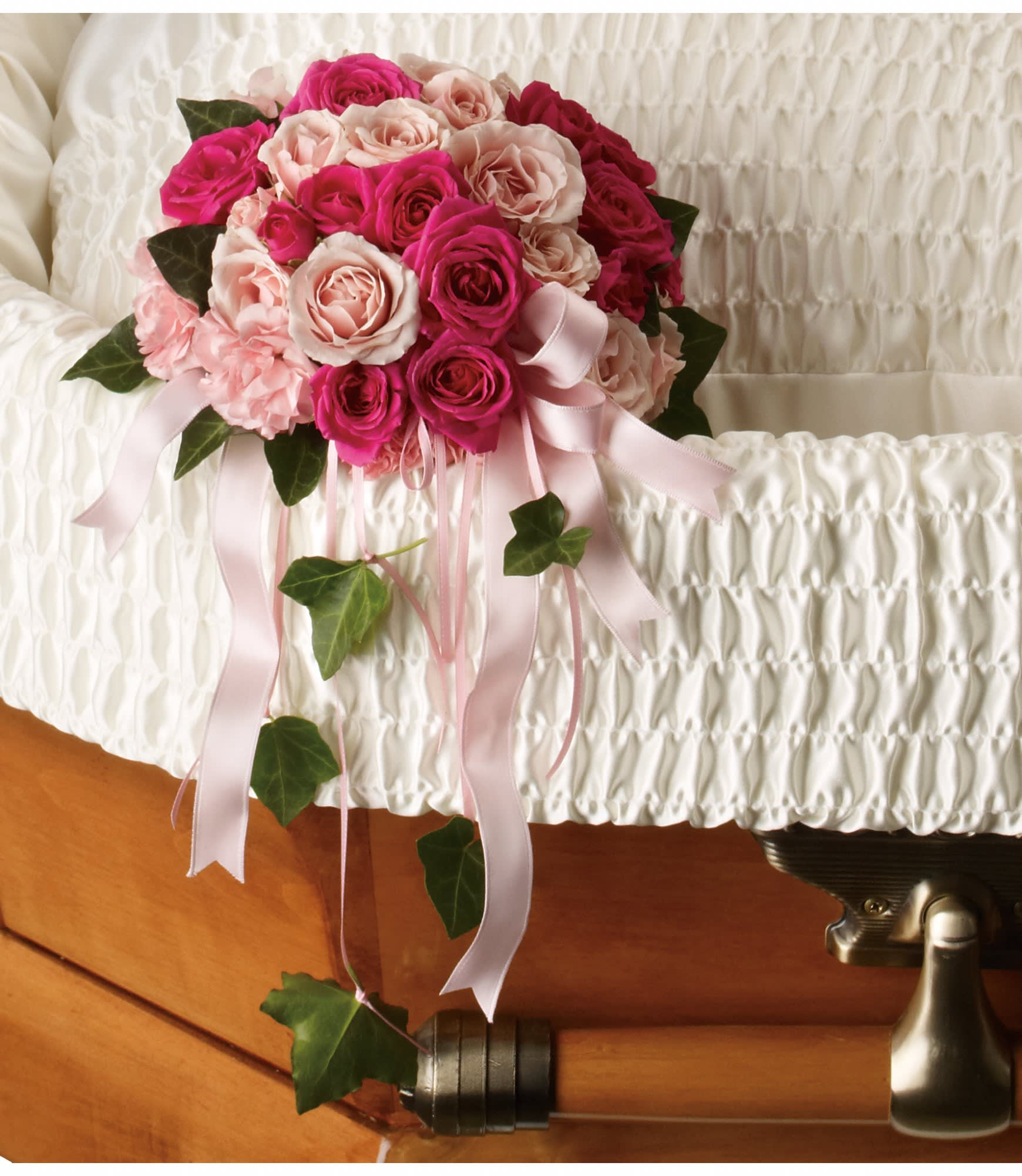 Rose Reflection Casket Insert by Teleflora in San Juan Capistrano, CA |  Mother Earth Florist