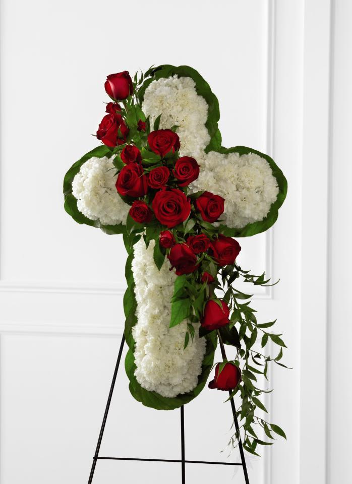 FTD Floral Cross Easel