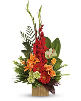 Tropical Delight - A combination of Tropical and Traditional Flowers make up this Stunning Arrangement.
