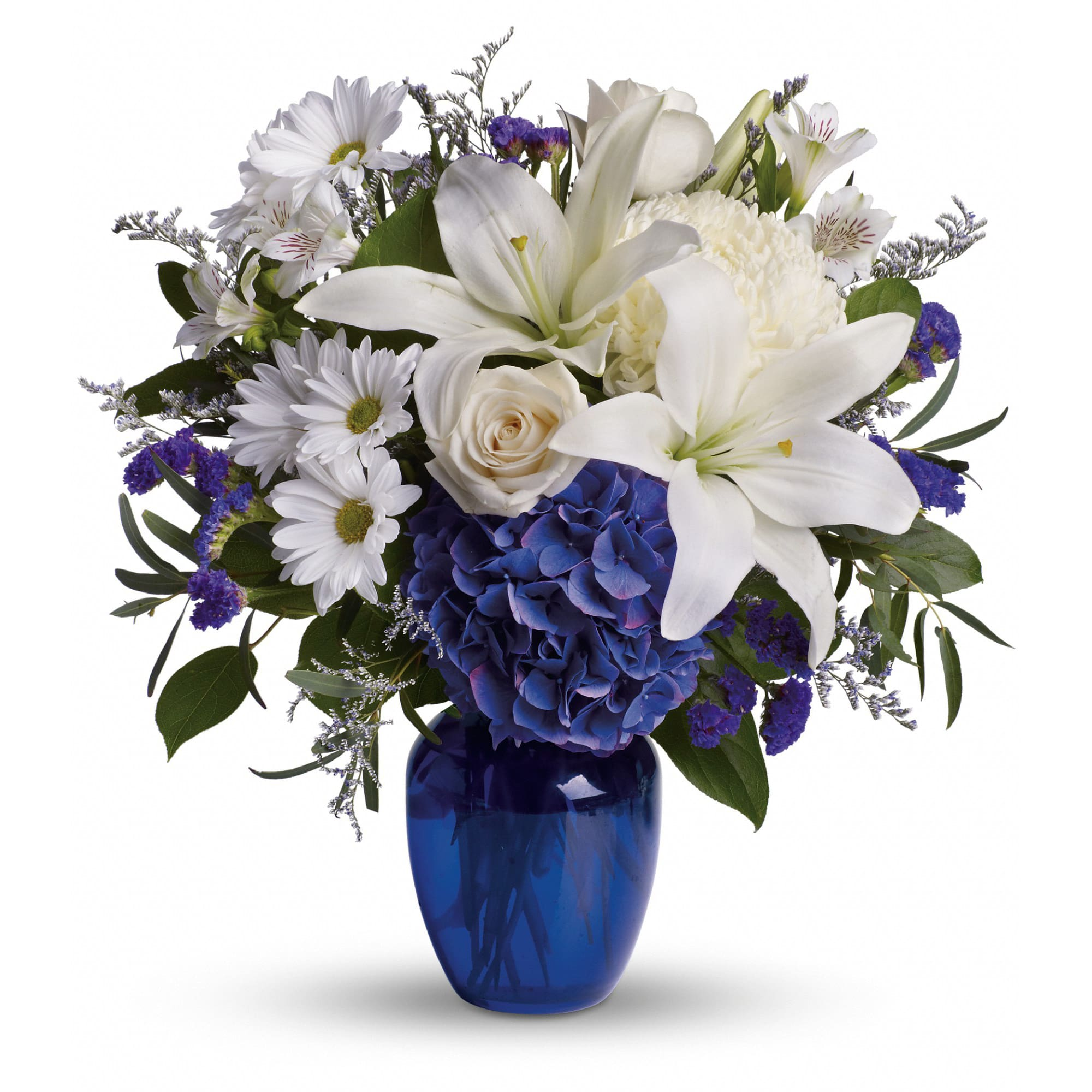 Beautiful In Blue By Teleflora In Bath Me Hawkes Flowers Gifts