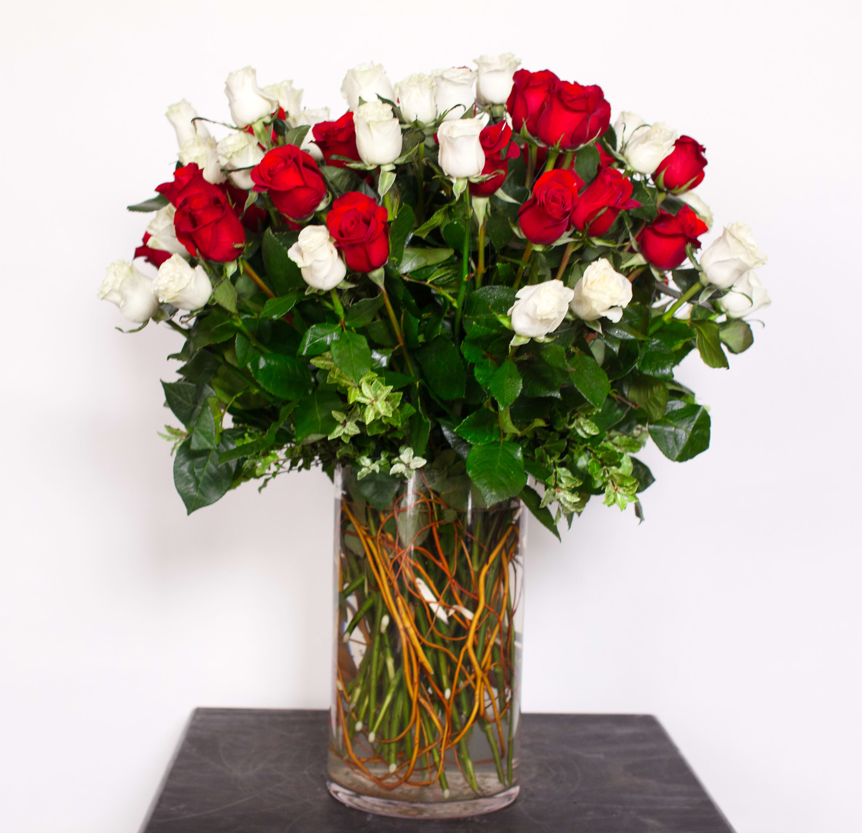 Four Dozen Roses In Los Angeles Ca Cj Matsumoto Sons