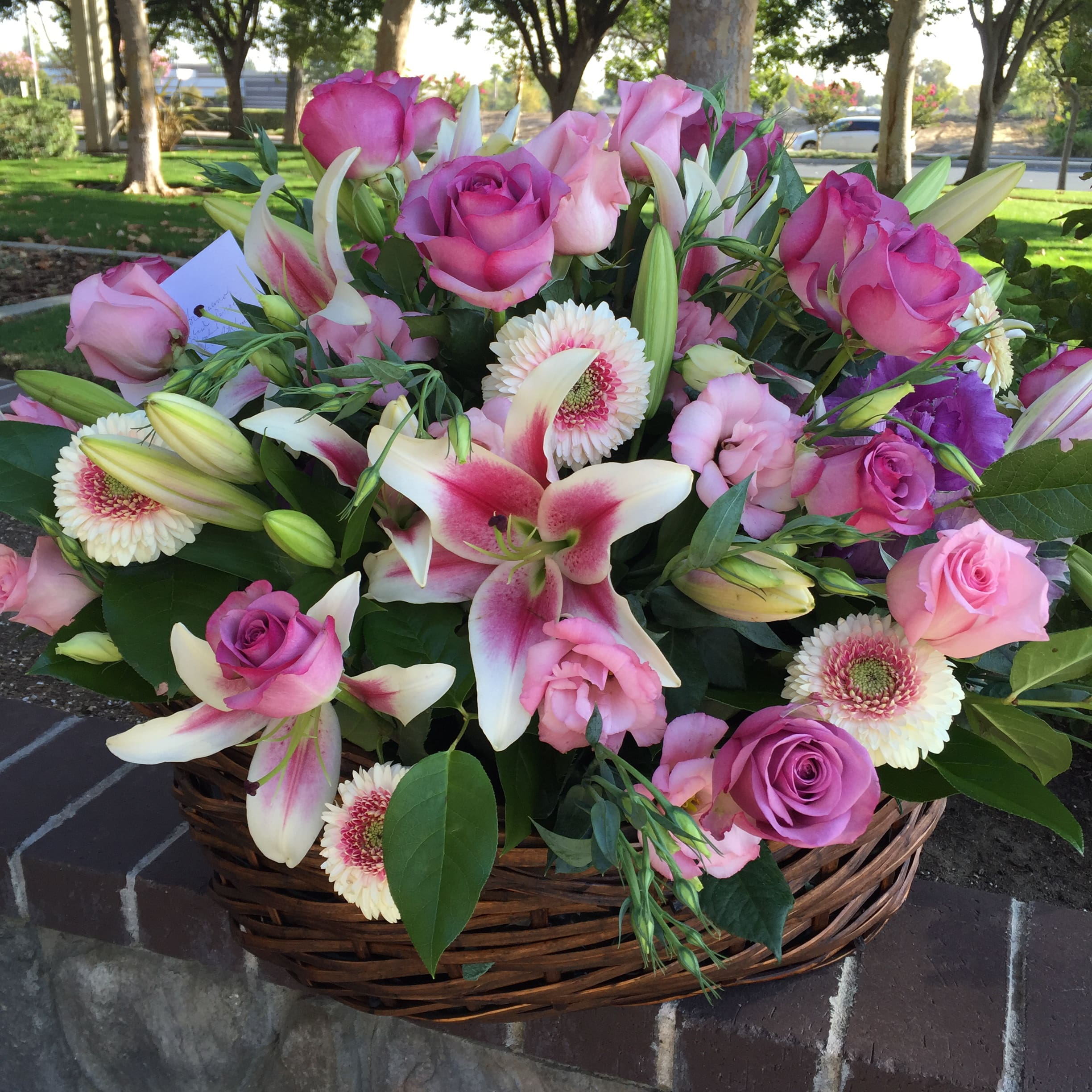 Large Basket Of Pastel Flowers In Concord Ca Full Bloom