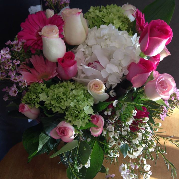 Pink Lady Bouquet In Framingham Ma Trishacooperdesigns