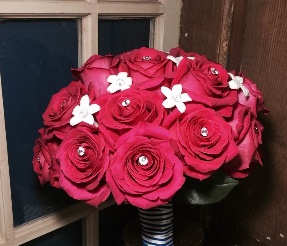Pink Floyd Bridal Bouquet With Stephanotis By Ipswich Hearts N Flowers