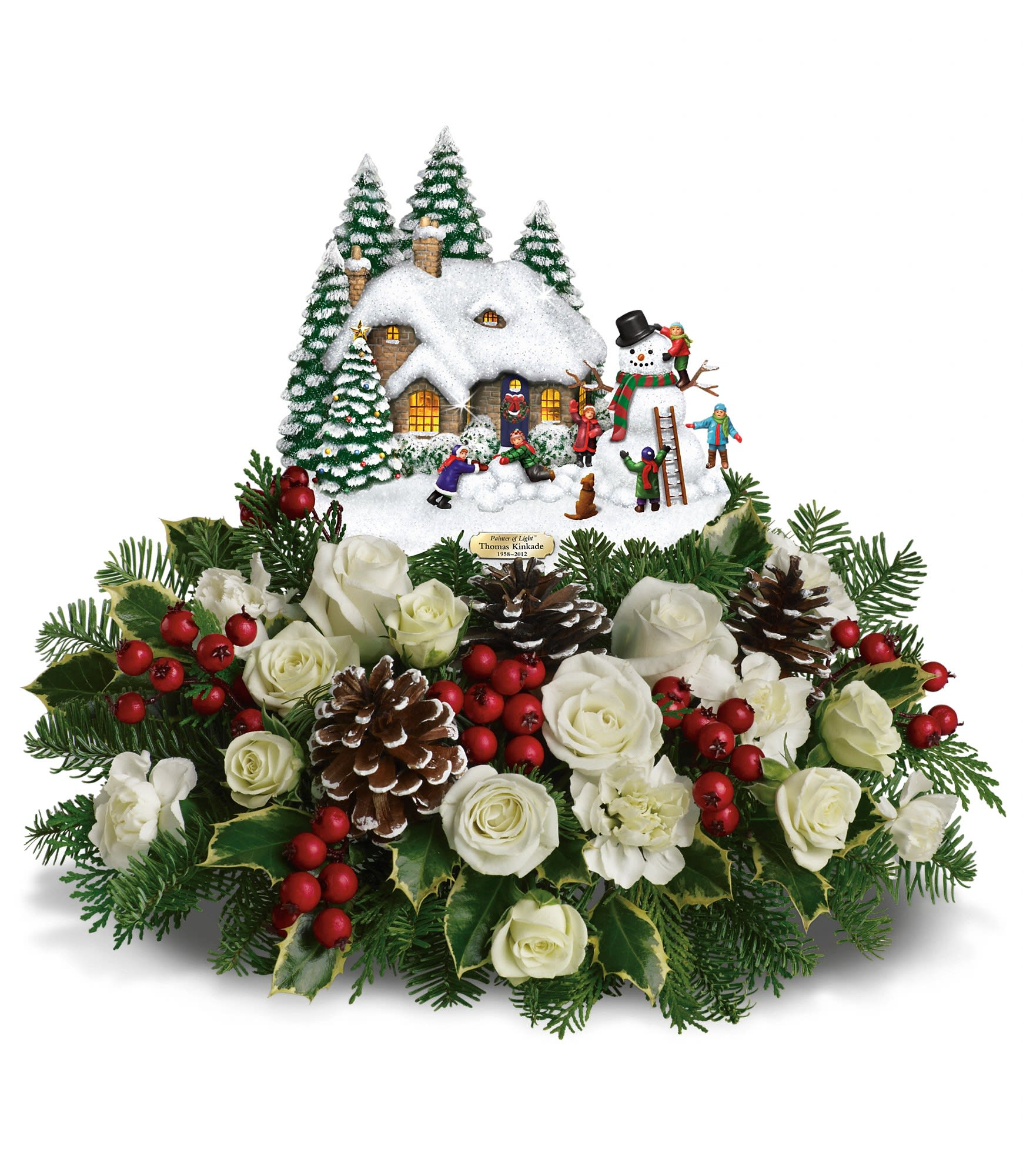 Teleflora Christmas 2019.Thomas Kinkade S Snow Time By Teleflora In Hellertown Pa Andy S And Pennewell S Flower Shop