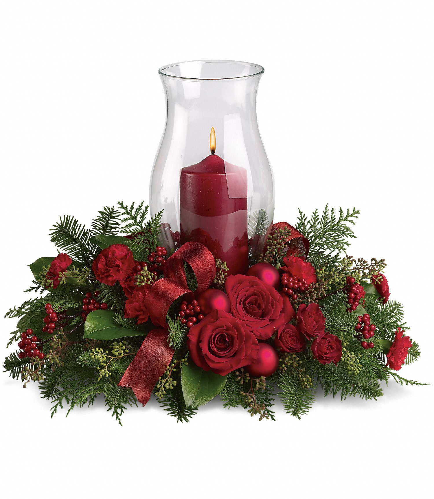 Christmas Greenery Centerpieces.Holiday Glow Centerpiece In San Jacinto Ca San Jacinto Florist