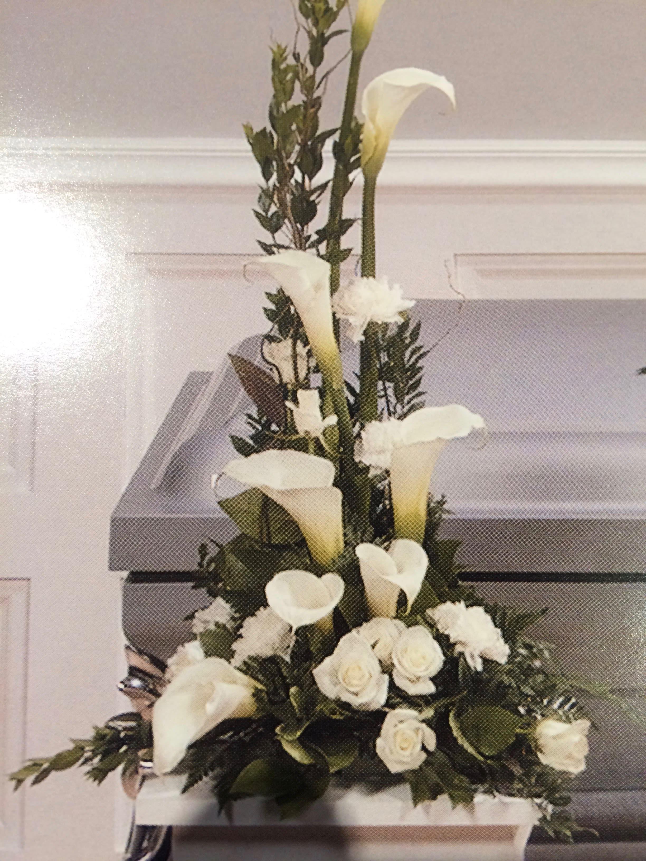 Calla Lilies Pedestal Arrangement In Greenfield Wi Kathy S 2nd