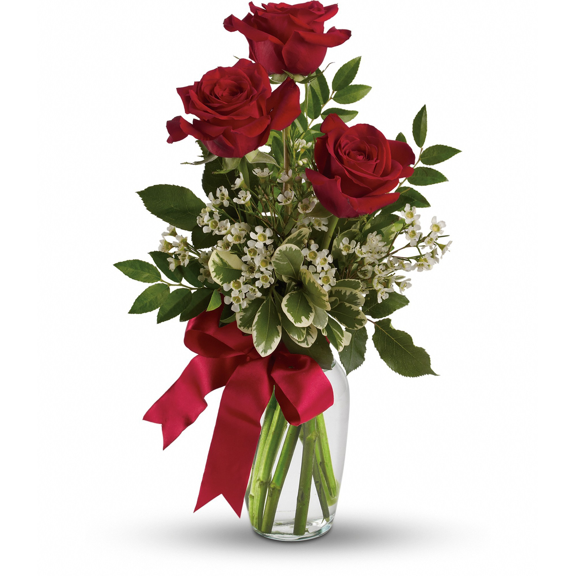 Thoughts Of You Bouquet With Red Roses In Marshfield Mo Ruth S Flowers Gifts