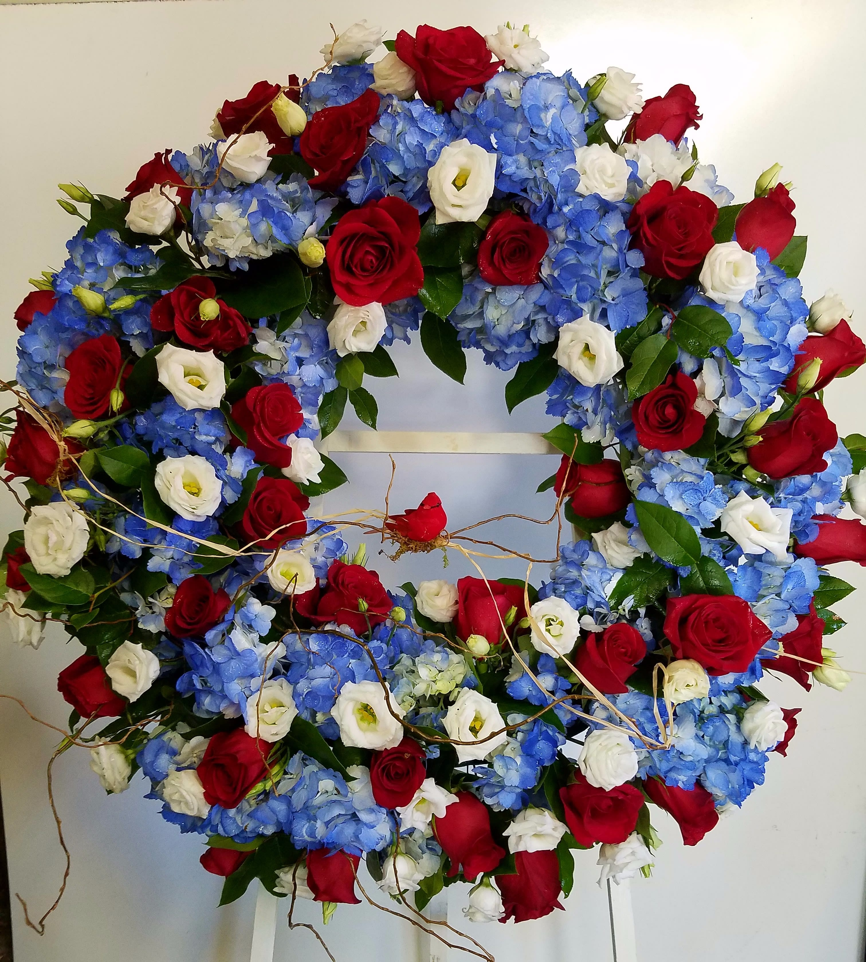 Eckert Florist's Patriotic Floral Wreath