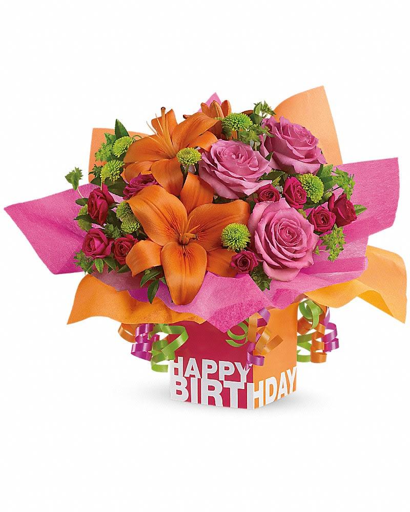 Rosy Birthday Present By Teleflora