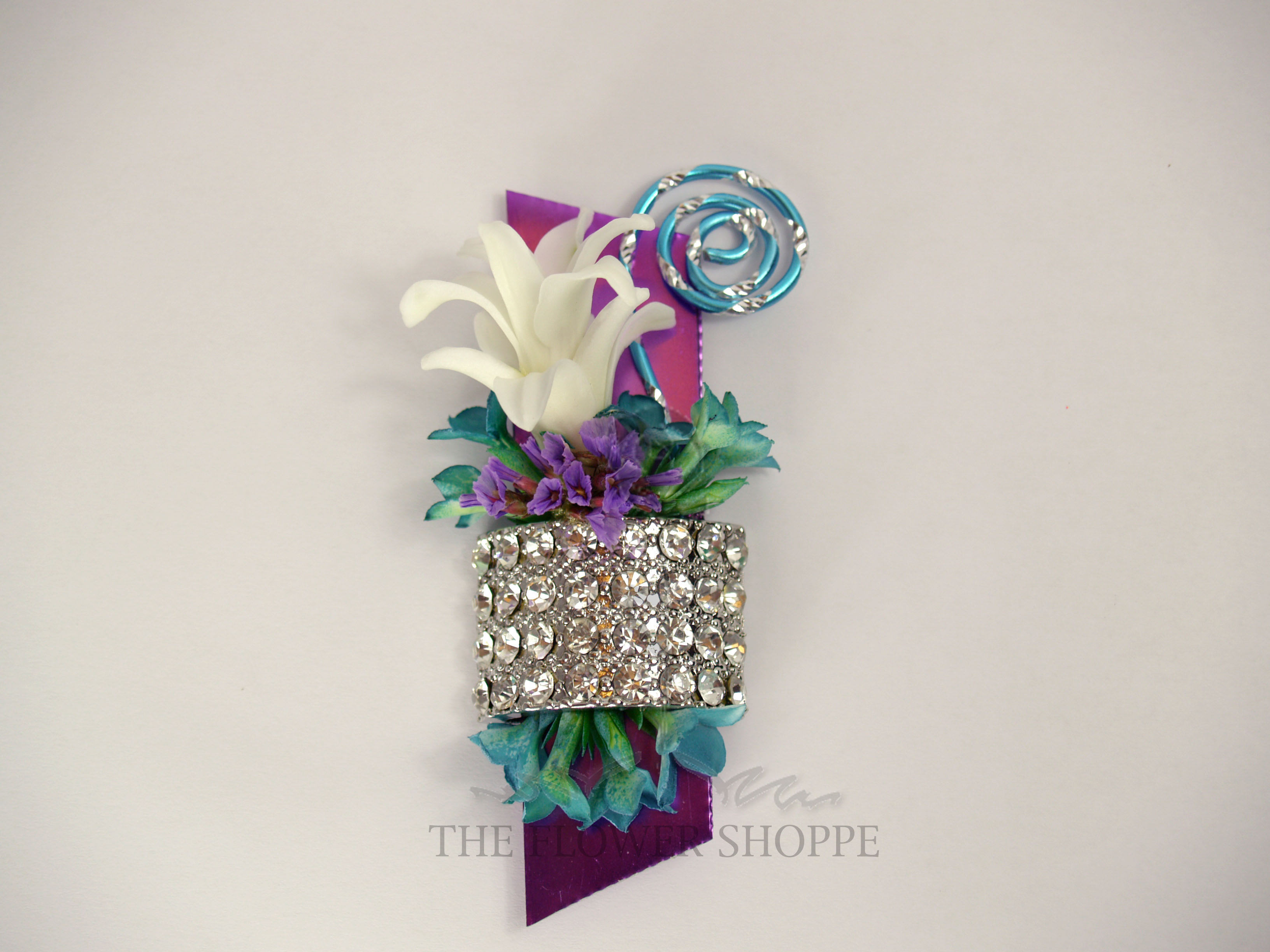 Purple Turquoise And White Magnet Boutonniere In Pratt Ks The