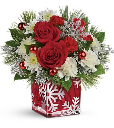 Teleflora Christmas 2019.Teleflora S Silver Christmas Bouquet In Camden Nj Flowers By Mendez Jackels