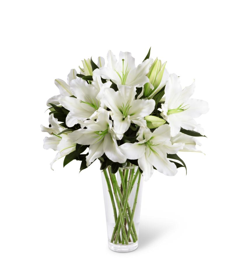Beautiful White Oriental Lilies In Hampton Falls Nh Flowers By