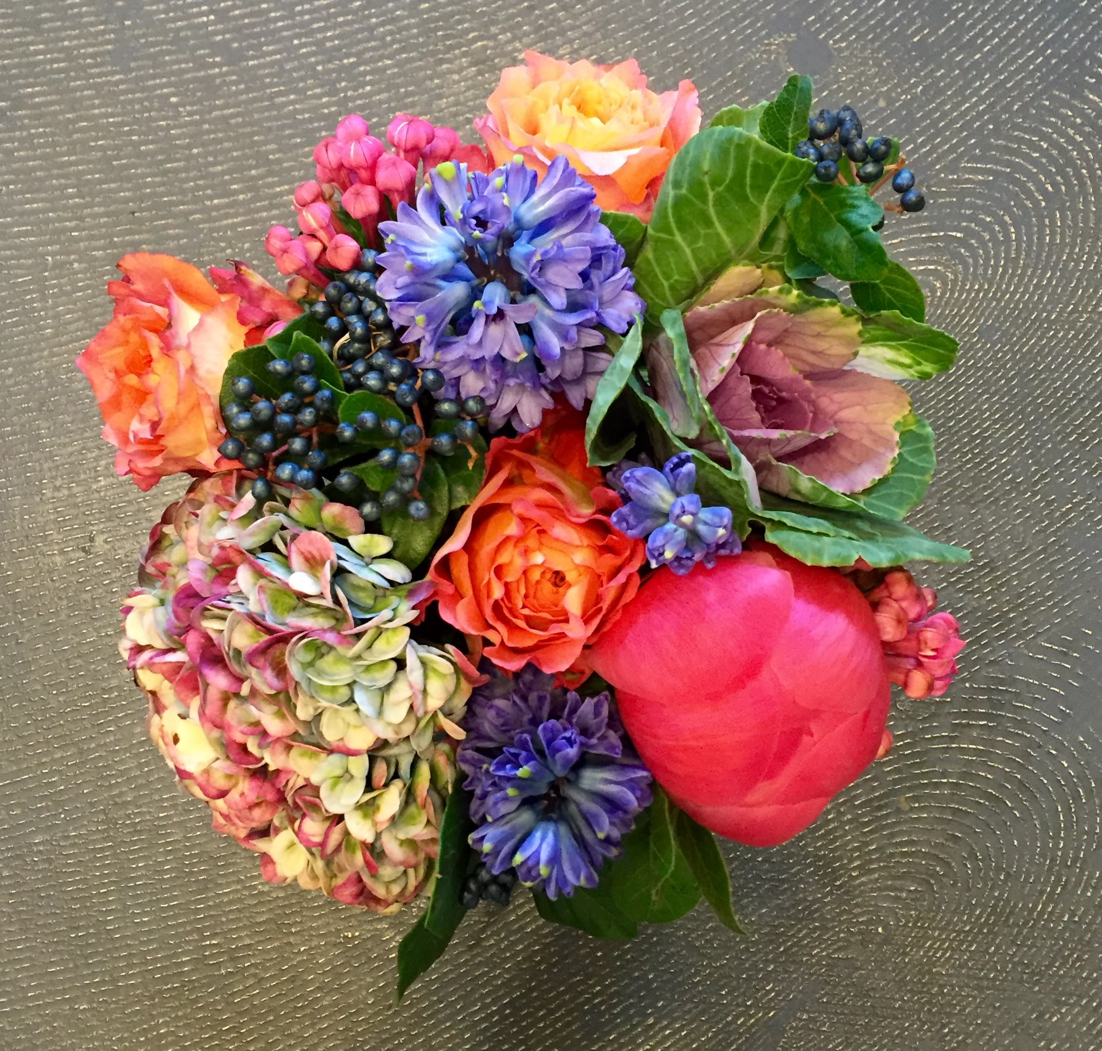 Beautiful Quality Flower Arrangement In A Glass Square In Scarsdale