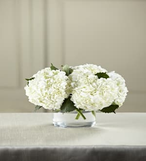 White Hydrangea Bouquet In Richmond Hill Ga Flowers By Rose