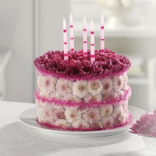 Blooming Birthday Cake in Eureka, CA | Mary Hana Flowers