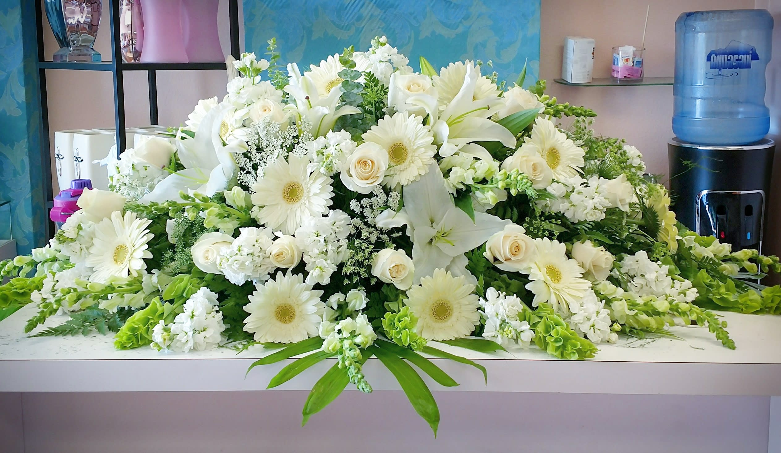 Serenity Casket Spray In Downey Ca Chita S Floral Designs