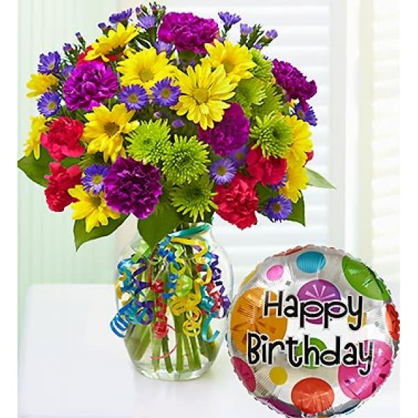 Birthday Wishes Bouquet Get Their Party Started With A Big Bunch Of Smiles Our