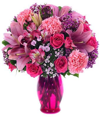 Pink Petals Bouquet in Jacksonville, FL | Blessin's ~N~ Blooms