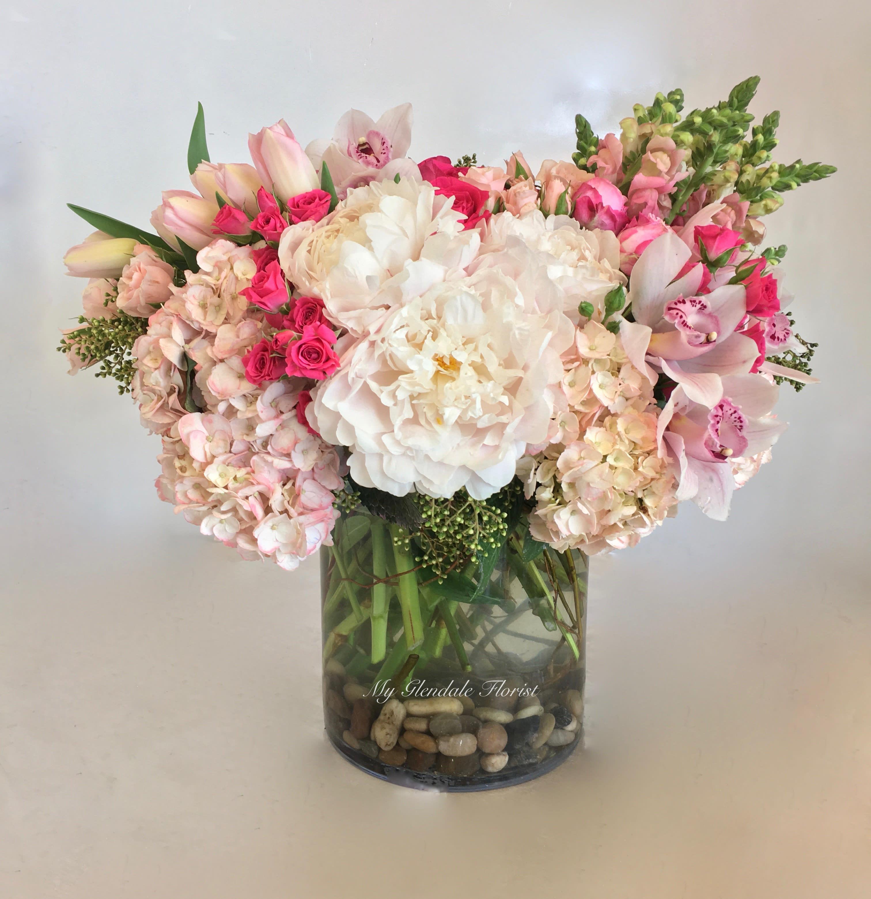 Peony Orchid Hydrangea Glendale Florist In Glendale Ca