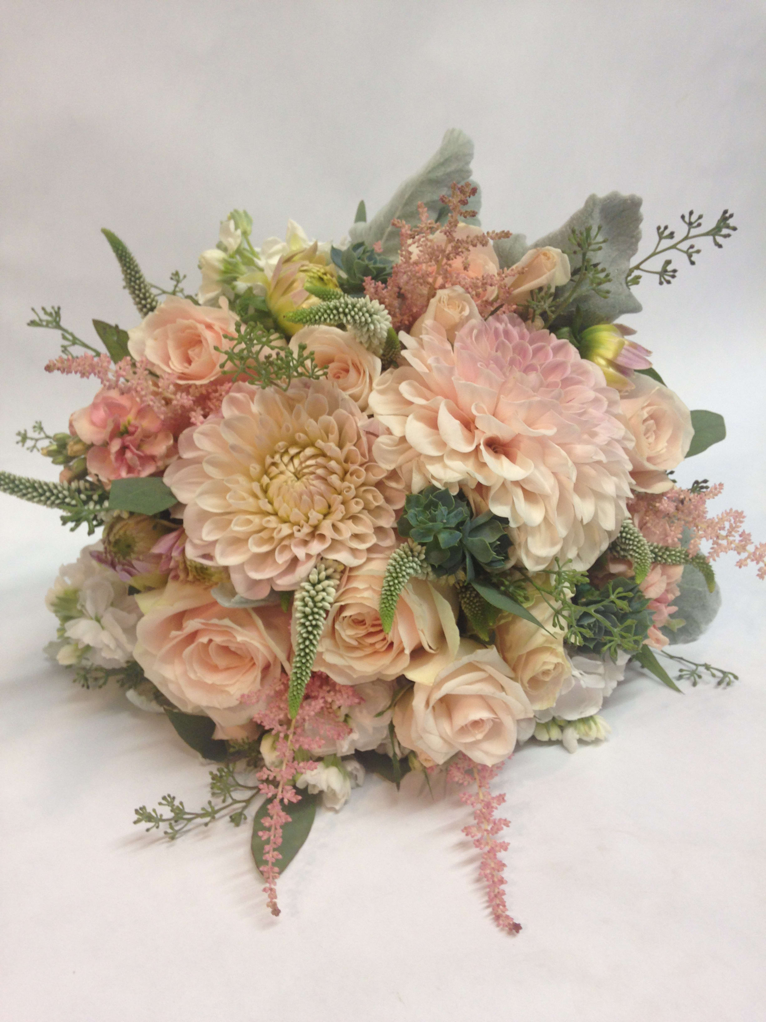 Blushing Dahlia Wedding Bouquet (Pre order) in San Francisco, CA