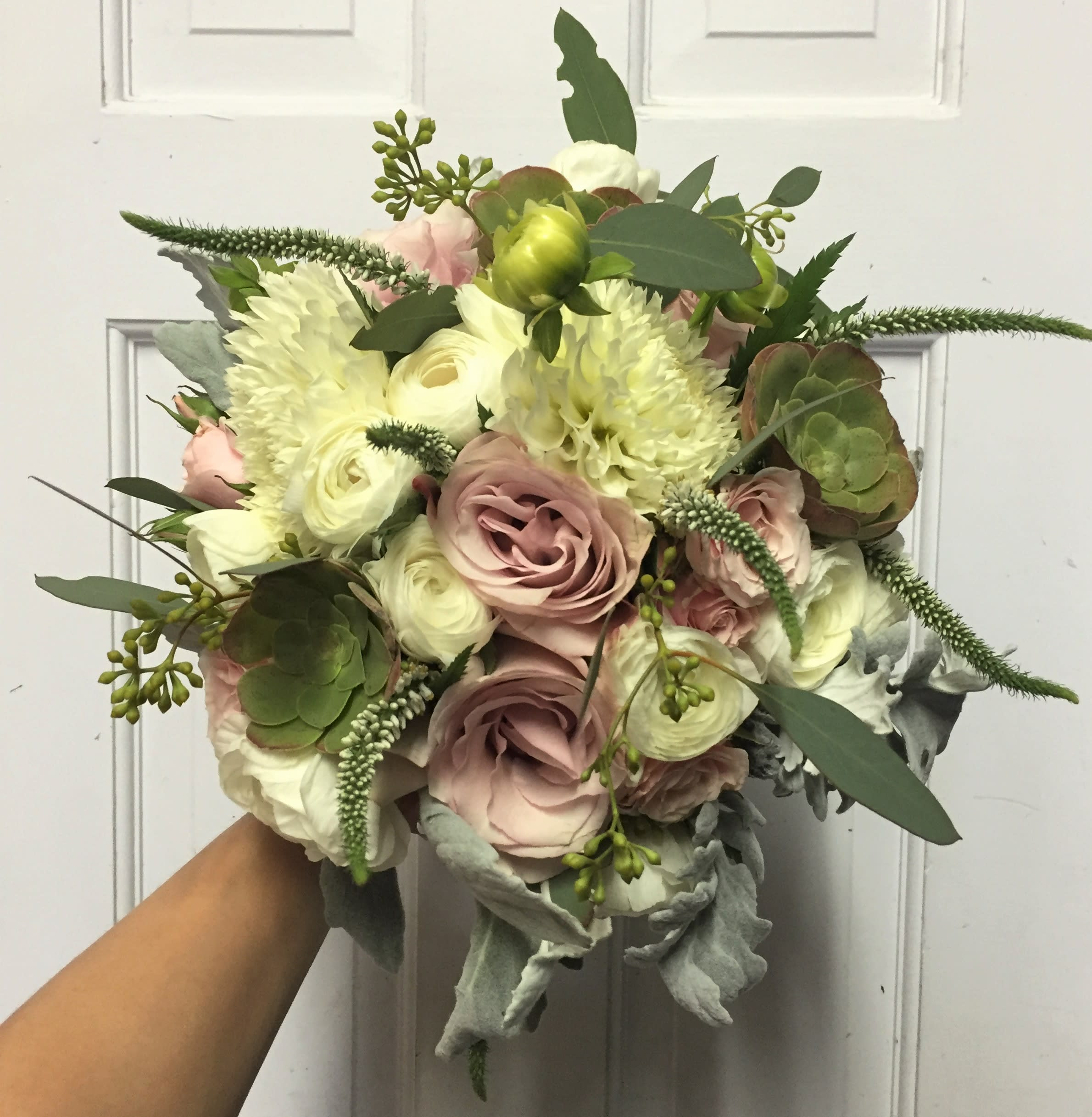 Wedding Flowers In May: Dusty Rose Bridal Boquet In San Francisco, CA