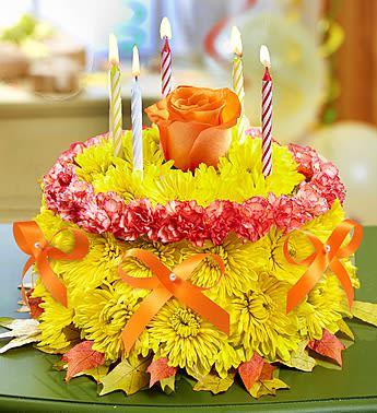 Birthday Flower Cake For Fall