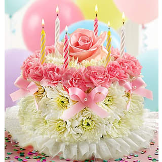 Birthday Wish Flower Cake